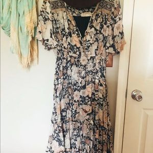 RESERVED Amethyst garden party dress